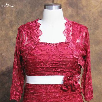 RSJ103 Lace Bolero Jacket Red