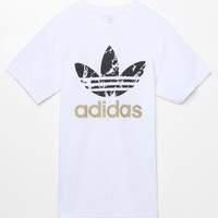 adidas Originals Stacked Marble T-Shirt - Mens Tee - White