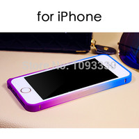 2015 Hot Sell for iPhone 5S 5 5g 4 4s 6 6Plus Gradient Bumper Luxury Colorful Galaxy PC Frame Protective Shell Cover Case