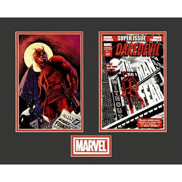 Daredevil - Limited Edition Lithocel Diptych from the Marvel Collector Covers Series