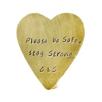 Be Safe Stay Strong Personalized Heart Wallet Insert.