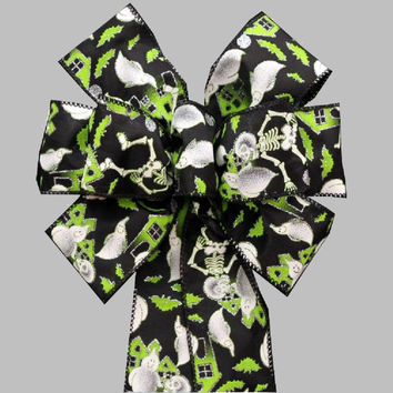 Haunted House Spooky Halloween Bow
