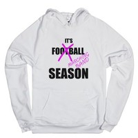 It's Football/marching Band Season-Unisex White Hoodie