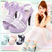 Bouquet lace T sandal◆7/14 ships planned
