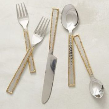 Besart Flatware by Anthropologie in Gold Size: One Size Flatware