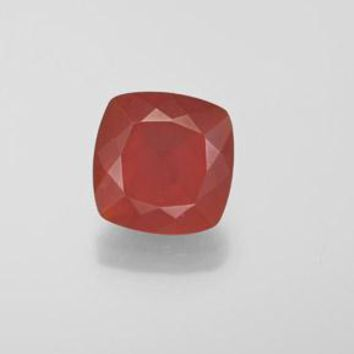 1.68 ct  Cushion-Cut Reddish Orange Fire Opal 8.6 x 8.5 mm