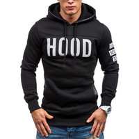 Men's Fashion Casual Slim Fit HOOD Print Hoodie Sweatshirt