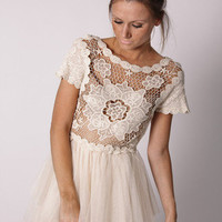 Esther Boutique - estelle lace dress- cream- pre order arrives april 15th