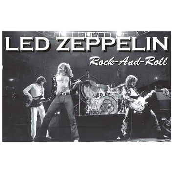 Led Zeppelin - Rock and Roll 24x36 Standard Wall Art Poster