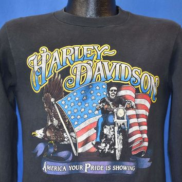 80s Appleton Harley Davidson Long Sleeve t-shirt Small