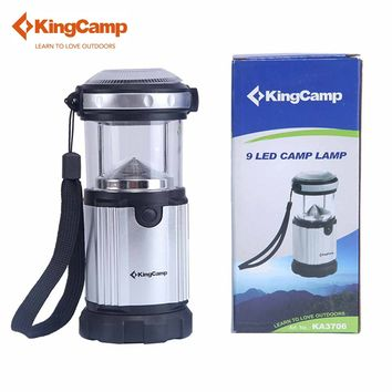 KingCamp 9LEDs Camp Lamp with Handle and Hook Bright Outdoor Camping Flashlight Portable Backpacking Outdoor Lighting