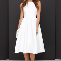 Lead a Charmed Life Ivory Midi Dress