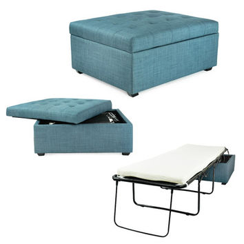 CORNER HOUSEWARES iBED Convertible Ottoman Guest Bed & Reviews | Wayfair