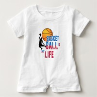 Basketball is my life baby romper