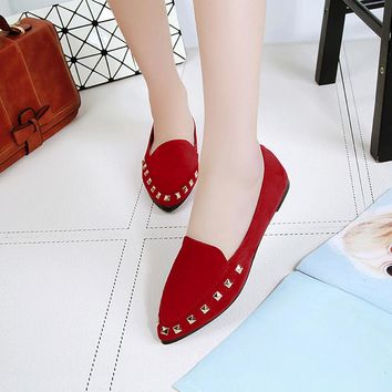 Women's Flats Rivet Ladies Comfy Shoes Soft Slip-On Casual Boat Shoes breathable multifunctional shoes  Indoor&Outdoor Shoe