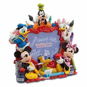 """disney parks mickey & friends fab 6 painting picture frame 4""""x6"""" new with box"""