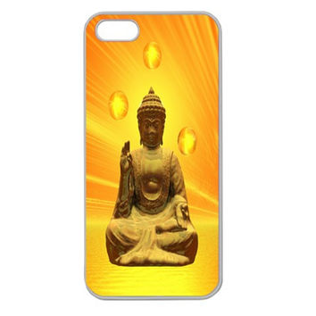 Golden Buddha Apple Seamless iPhone 5 Case (Clear)
