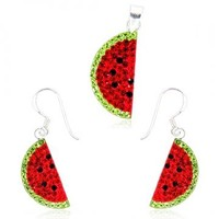 Swarovski crystals Watermelon Set