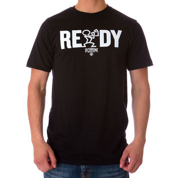 READY TEXT TEE - Black