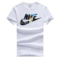 NIKE summer new trend men's round neck sports casual short-sleeved T-shirt white