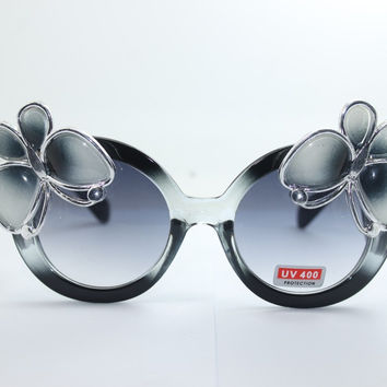Women's Cute Lovely Summer Style Hot Fashion Fimo Flower Sunglasses = 4672226692
