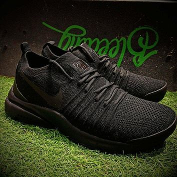 Sale Nike Air Presto QS 17ss Flyknit Running Shoes Men Triple Black Sport Shoes