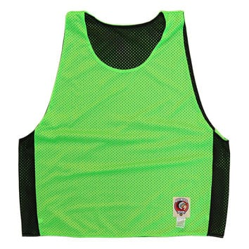 Neon Green and Black Reversible Lacrosse Pinnie