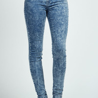Laila Dark Acid Wash Skinny Denim Jeans