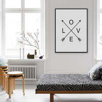 Love Wall Art, Arrows Print, Love Print, Printable Wall Art, Instant Download, Modern Wall Art Decor, Gift, Gifts, Wife Gift, Hustband Gift