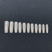 Nail Full Cover Tips - Coffin 110 or 440 pcs clear