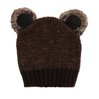 Koala Brown Knit Beanie