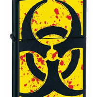 Zippo Hazardous Black Matte Lighter