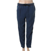 Alexander McQueen Womens Contrast TRim Drawstring Track & Sweat Pants