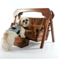 Kalo 7 Pet Swing Bed in Walnut