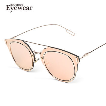 BOUTIQUE Newest Luxury Vintage Metal Frame Sunglasses Women Brand New Designer Pilot Glasses Fashion Men Classic Eyewear
