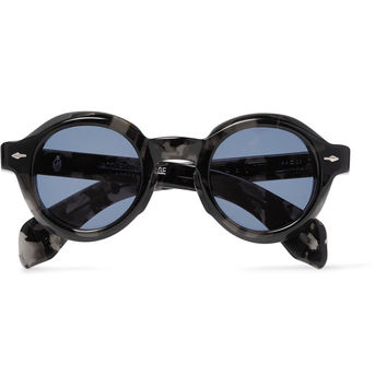 Jacques Marie Mage - Stendhal Round-Frame Tortoiseshell Acetate Sunglasses