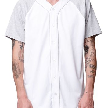 On The Byas Tony Mesh Baseball Jersey - Mens Tee - Gray