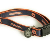 Sporty K9 Collegiate Auburn Tigers Dog Collar, Medium  - New Design