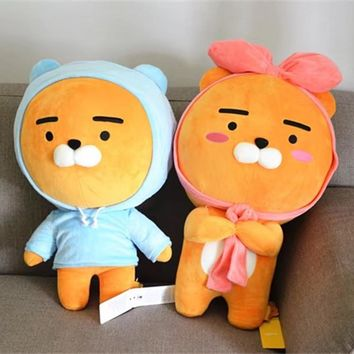 60cm Kakao Friends Plush Lion Toy Stuffed Kawaii Animal Cartoon Love Doll Ryan Cute Cocoa Kids Children Lover Valentine's Gift
