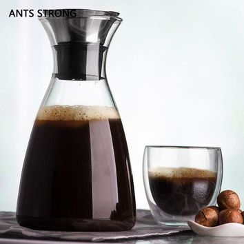 CREYLD1 ANTS STRONG environmental thickening glass coffee pot/Anti-skid bottom design cold kettle coffee tea accessories