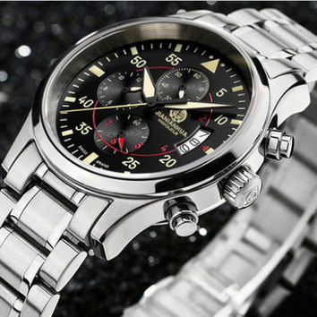 Hot !Authentic Carnival Swiss Top Brand Luxury Watches Men Sports Automatic Chronograph Quartz Military Watch Free shipping