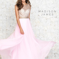 Diamond Pattern Madison James Prom Gown 15-152