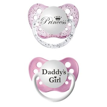 ulubulu 2pk Pacifiers Daddy's Girl/Princess