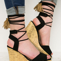 String Up Cork Wedges