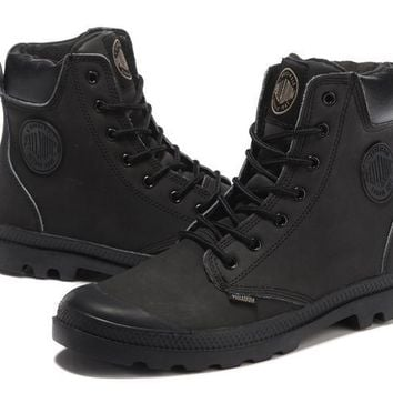 Palladium Pampa Cuff Wp Lux Men Martin Boots Leather Black - Beauty Ticks