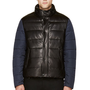 Mackage Black Lambskin Quilted Down Evan Jacket