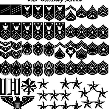 US Military Ranks for Army, Navy, Air Force, Marines and Coast Guard