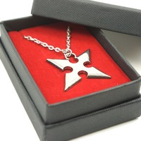 Dancingstars Kingdom Hearts Roxas X Keyblade Necklace Cosplay Accessory