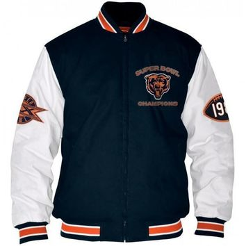 Chicago Bears Hall of Fame Commemorative Canvas Full Zip Jacket