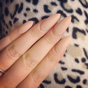 Matte Nude Stiletto Nails - Full Set